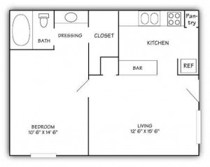 Woodwinds One Bedroom Floor Plan